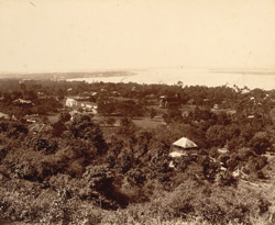 View from Uzina Pagoda looking towards Moupon [Moulmein]
